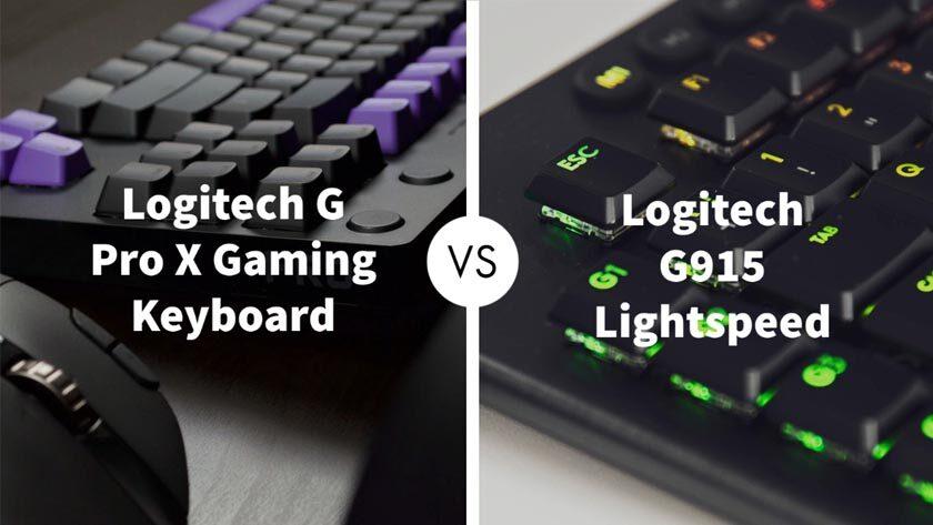 Logitech G Pro X Gaming Keyboard vs Logitech G915 Lightspeed