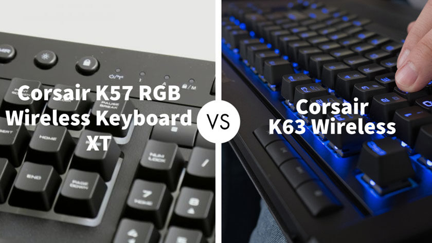 Corsair K57 Rgb Wireless Keyboard Xt Vs Corsair K63 Wireless Go Products Pro