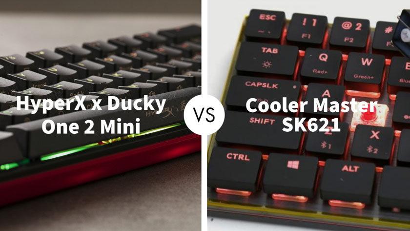 HyperX x Ducky One 2 Mini Vs Cooler Master SK621