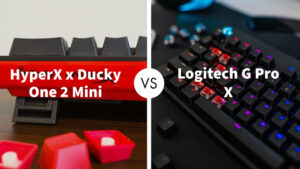 HyperX x Ducky One 2 Mini Vs Logitech G Pro X