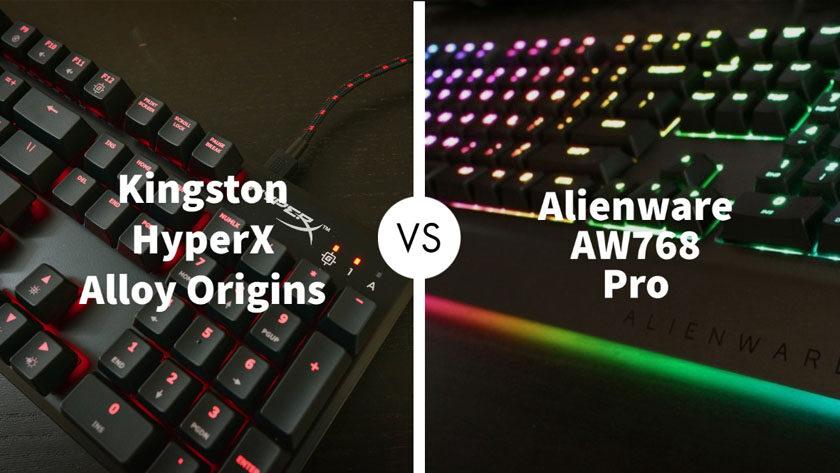 Kingston HyperX Alloy Origins Vs Alienware AW768 Pro