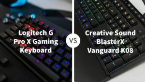 Logitech G Pro X Gaming Keyboard Vs Creative Sound BlasterX Vanguard K08