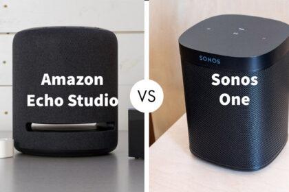 Amazon Echo Studio vs Sonos One