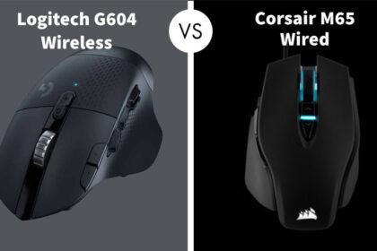 Logitech G604 Wireless vs Corsair M65 Wired